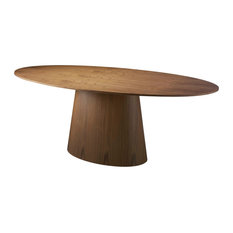 Alexandra Furniture - Oval Walnut Wood Dining Table - Dining Tables