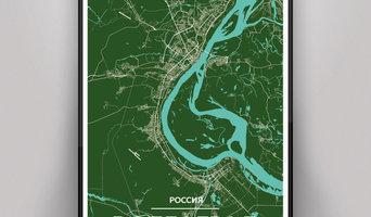 Карта-постер Волгоград