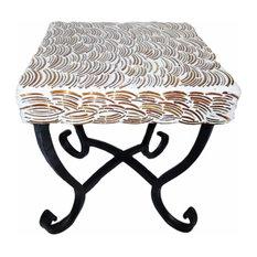 Mosaic/Metal Square Table, Multicolor