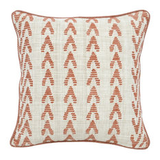 """Osage Emboidered 22"""" Throw Pillow, Terra cotta by Kosas Home"""