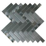 "Tilesbay - 12""x12"" Arrowhead 3D Brushed Herringbone Mosaic, Single Listing - Arrowhead 1"" x 4"" Metal Mosaic Tile in Gray Features: -Floor/wall tiles.-Made with stainless steel.-3D Arrowhead brushed, herringbone.-Tile Type: Mosaic Tile.-Approved Applications: Wall Tile.-Product Use: Backsplash;Bathroom wall;Shower."
