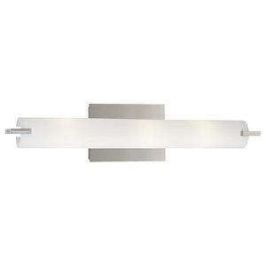 George Kovacs Tube 3-Light Bathroom Lighting Fixture, Chrome