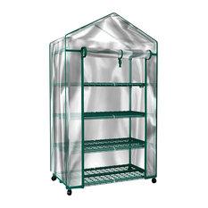 Mini Greenhouse-4-Tier Indoor Outdoor Shelves by Home-Complete
