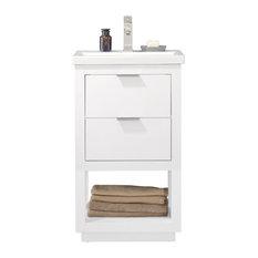 "Klein 20"" Single Sink Vanity, White"