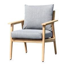 Teak Patio Deep Seating Armchair