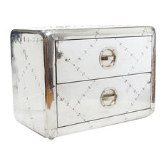 Aviator Aluminum Small Cabinet With 2 Drawer