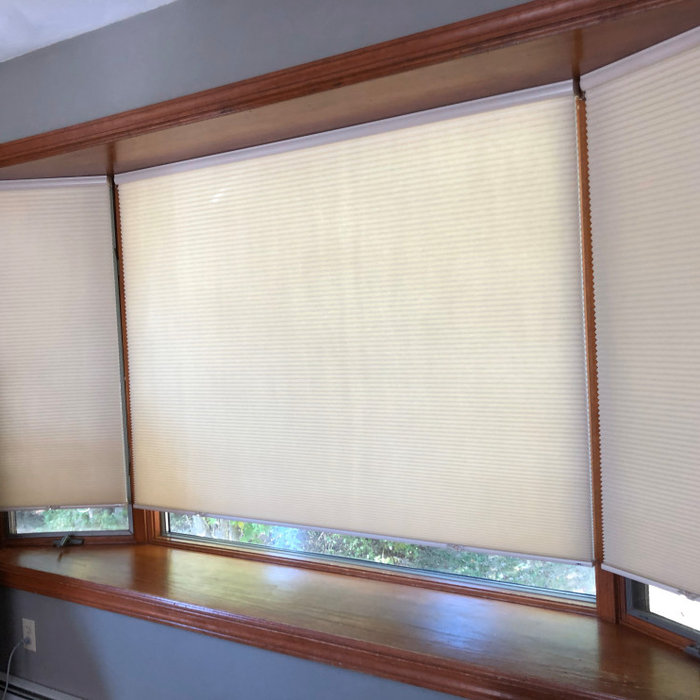 Cellular shades for bay window