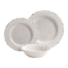 Studio California - Gibson Studio California Mauna 12-Piece Dinnerware Set White - Dinnerware  sc 1 st  Houzz : encore stone tableware - pezcame.com
