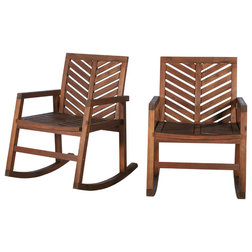 Transitional Outdoor Rocking Chairs by Walker Edison