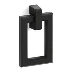 Kohler Poplin/Marabou Rectangular Pull, Black