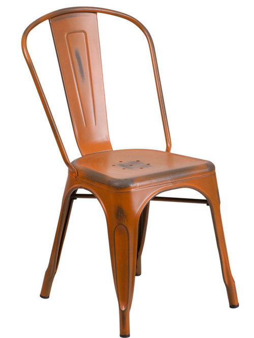 Distressed Tolix Style Dining Chairs U0026 Bar Stools   Dining Chairs