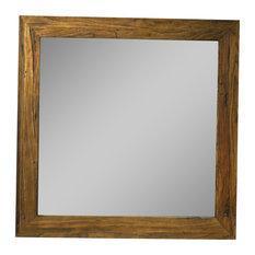 Sesamo Aged Elm Wall Mirror