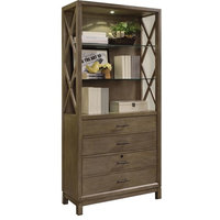 Parker House Midtown MID#335 Bunching Bookcase in Smoked Grey