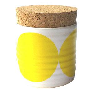 Spots Sugar Jar, Yellow