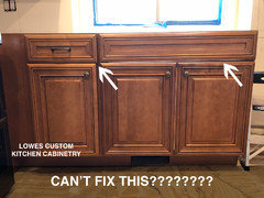 Kitchen cabinets, remodeling through Lowes or Home Depot