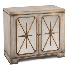 Nightstand JOHN-RICHARD Starburst Gold Trim Leaf Eglomise