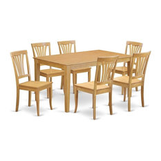 7-Piece Dining Room Set, Dining Table And 6 Dining Chairs