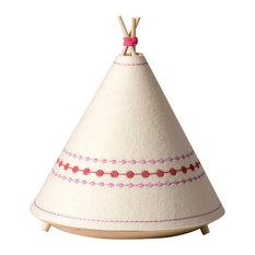Tipi Table Lamp, Pink Dots