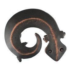 Gecko Pewter Cabinet Hardware Knob, Bronze
