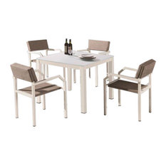 Barite Modern Outdoor Dining Set For 4 With Arms