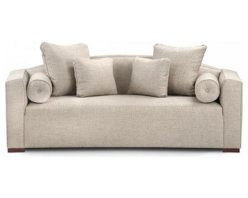 italian leather circular sofa