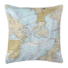 Tampa Bay, FL Nautical Chart Pillow
