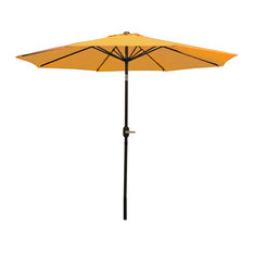 Sunnydaze Gold Aluminum 9' Patio Deck Market Umbrella With Tilt and Crank