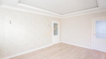 Отделка 1-к квартиры по дизайн-проекту.