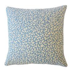 """Verena Coastal Down Filled Throw Pillow, Seaside, 22""""x22"""""""