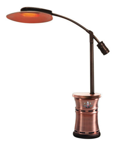 Cantilever Commercial Dome Style Patio Heater Brushed Copper Propane