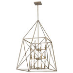 Z-Lite - Z-Lite 447-12AS - 12 Light Pendant - Forged tressle patterns fashioned after the iron train bridges of another era and modernized with a dual Bronze and Gold finish, or an antique silver finish define the Tressle collection.  Oversized, well proportioned, and with many configurations, Tressle is a bridge to great design.