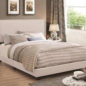 Ivory Upholstered Eastern King Bed