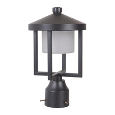 Craftmade Alta Medium LED Post Mount, Midnight