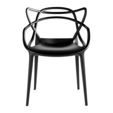 Fine Mod Imports Dining Chair, Black