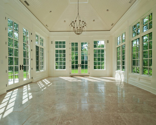 Sunroom flooring houzz for Sunroom tile floor ideas