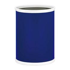 """Oval Waste Basket, Royal Blue, 14"""""""