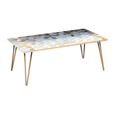 Brixton Hairpin Coffee Table - Midnight Gold Deco
