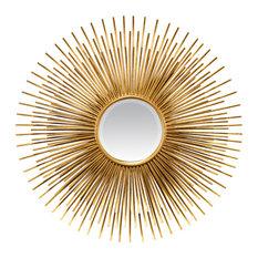 Golden Sun Burst Mirror, 87x87 cm