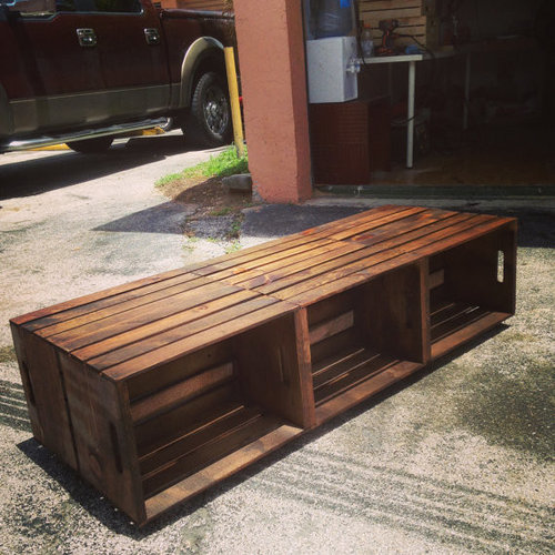 6 Wine Crate Coffee Table Rustic Coffee Table