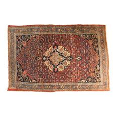 """5x7 Antique Fine Halvaie Bijar Carpet, 4'10"""" x 7'1"""""""