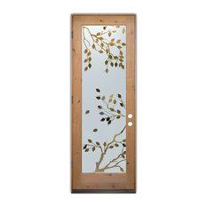 Sans Soucie Art Glass - Glass Front Entry Door Sans Soucie Art Glass Cherry Tree - Front Doors