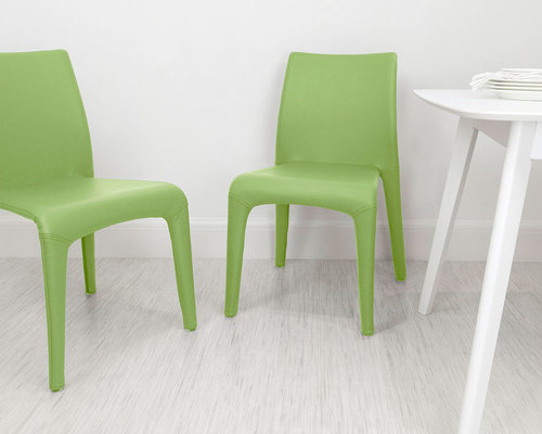 Dining Chairs – Green Leather Dining Chairs