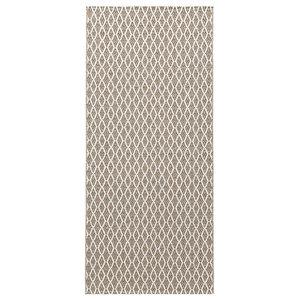 Eye Woven Vinyl Floor Cloth, Beige, 150x250 cm