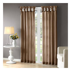 Madison Park Twist Tab Lined Window Curtain With Bronze Finish WIN40-118
