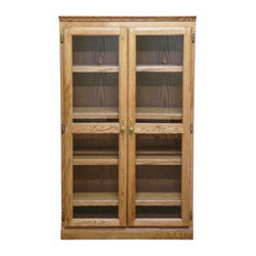 Traditional Bookcase With Glass Doors Cherry Alder