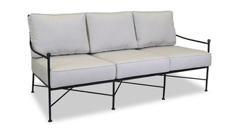 Sunset West Provence Sofa With Cushions, Canvas Flax