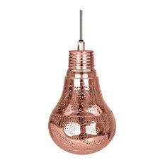Handmade Lantern Pendant, Bright Copper, Large