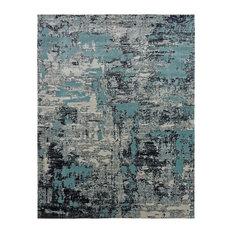 """Modena Aqua/Zinc Area Rug,Blue 7'9"""" x 9'9"""""""