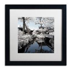 "Philippe Hugonnard 'Double Temples' Art, Black Frame, White Matte, 16""x16"""