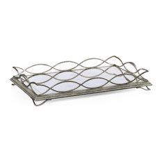Silver Iron Rectangular Tray